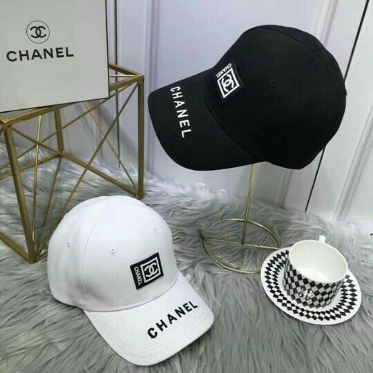 677345a91b8 w Box CLEARANCE SALE Chanel Cap CC Cap Summer OOTD pair w your ...