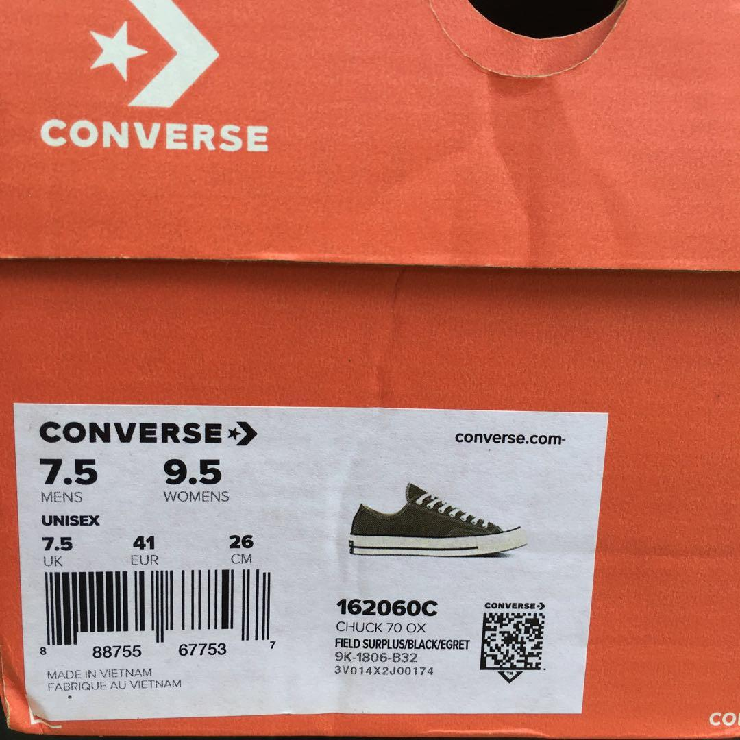 Converse CTAS 70s Ox Field Surplus/Black/Egret (Original 100%)