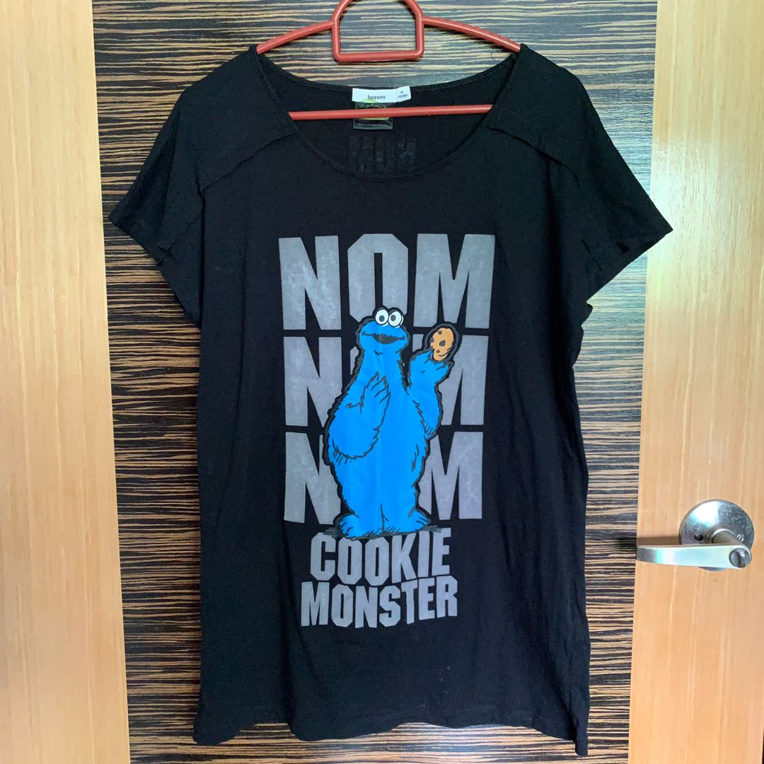c235f0288 cookie monster (sesame street) shirt, Women's Fashion, Clothes, Tops ...
