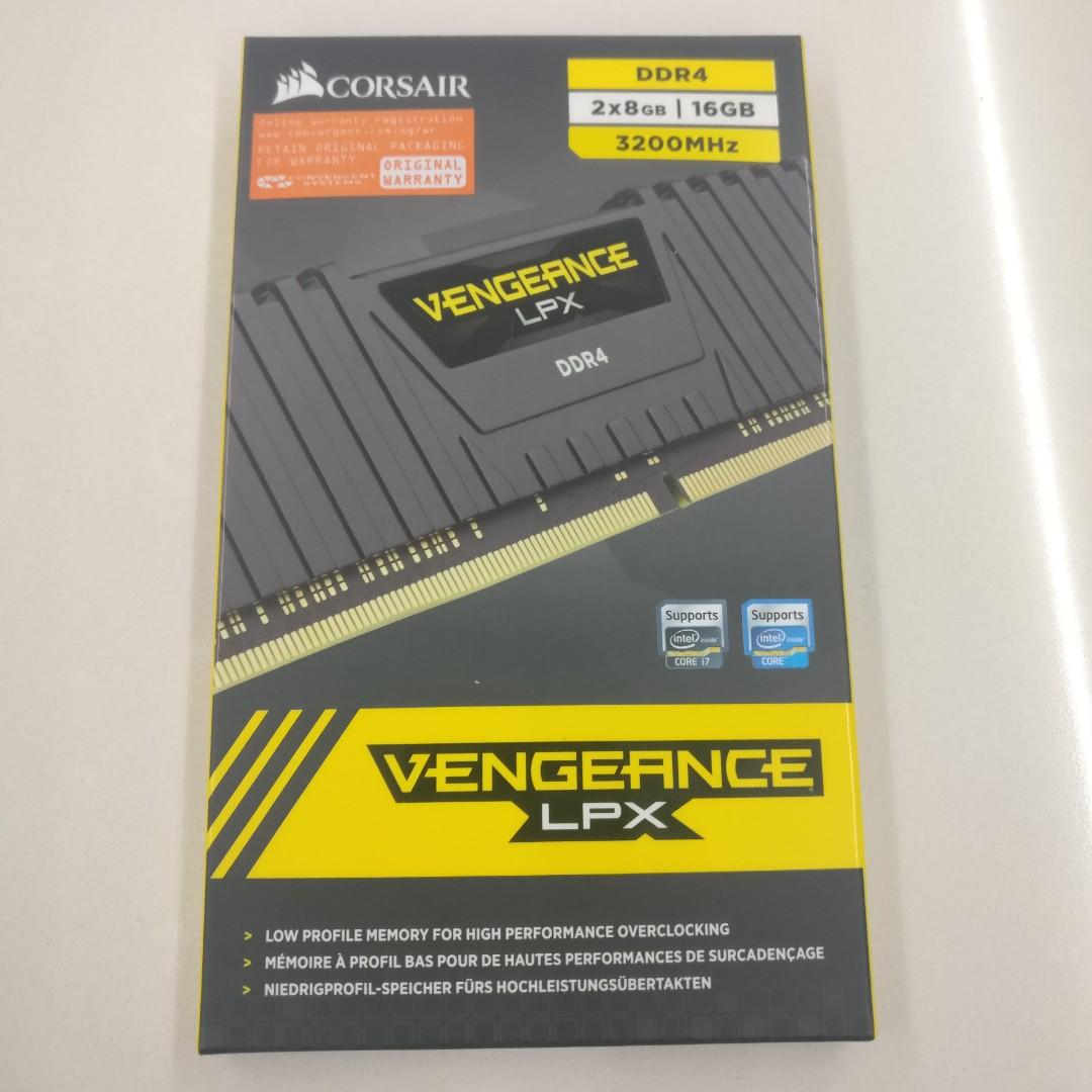 Corsair 16GB 3200MHz 2x8GB Vengeance LPX DDR4 RAM Desktop Memory CL16  CMK16GX4M2B3200C16