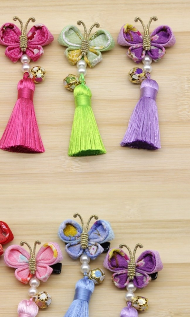Diy Hand Craft Japanese Kanzashi Flower Hair Clip Design Craft