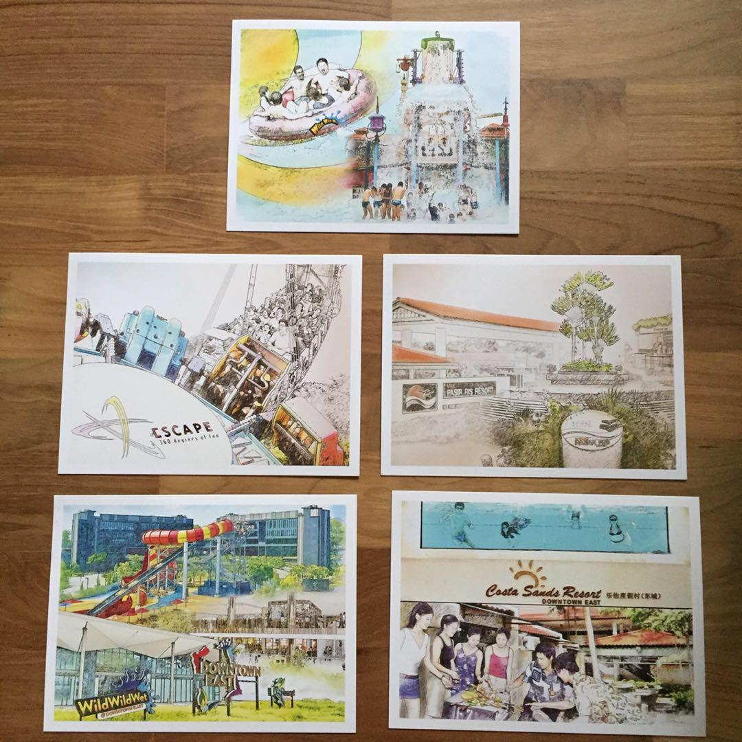 Downtown East Postcards and Stamp Sets Limited Edition