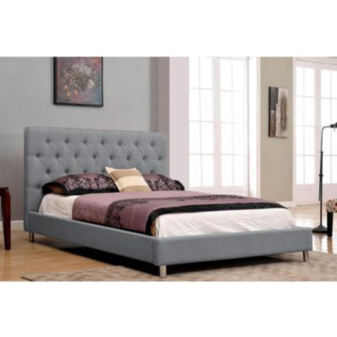 Free Delivery and Assembly -  Brand New from Manufacturer - Modern Fendi Chrome Bed