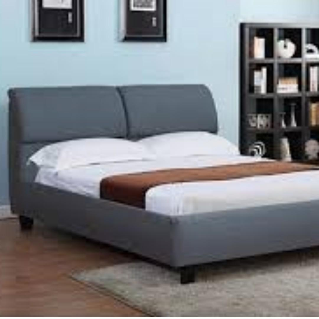 Free Delivery and Assembly - Brand New from Manufacturer - Soho Posh Design - WHITE LEATHER PLATFORM BED