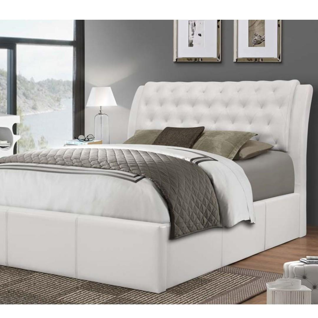 Free Delivery and Assembly - Brand New from Manufacturer -Old World Regal - FAUX LEATHER PLATFORM BED