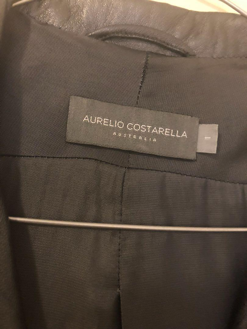 Genuine leather RRP $1000+ Aurielo Costarella jacket size 1