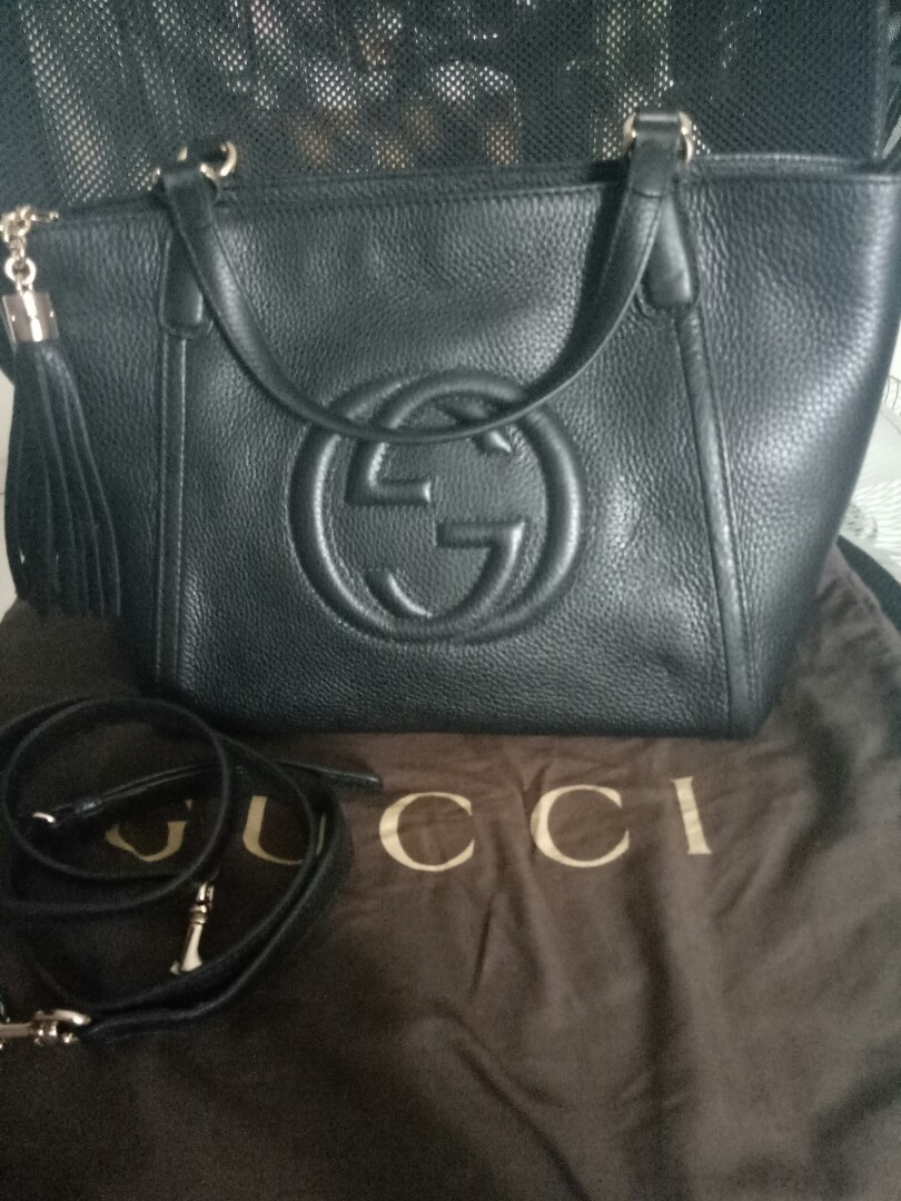741068099b2 Gucci Signature Black Handbag