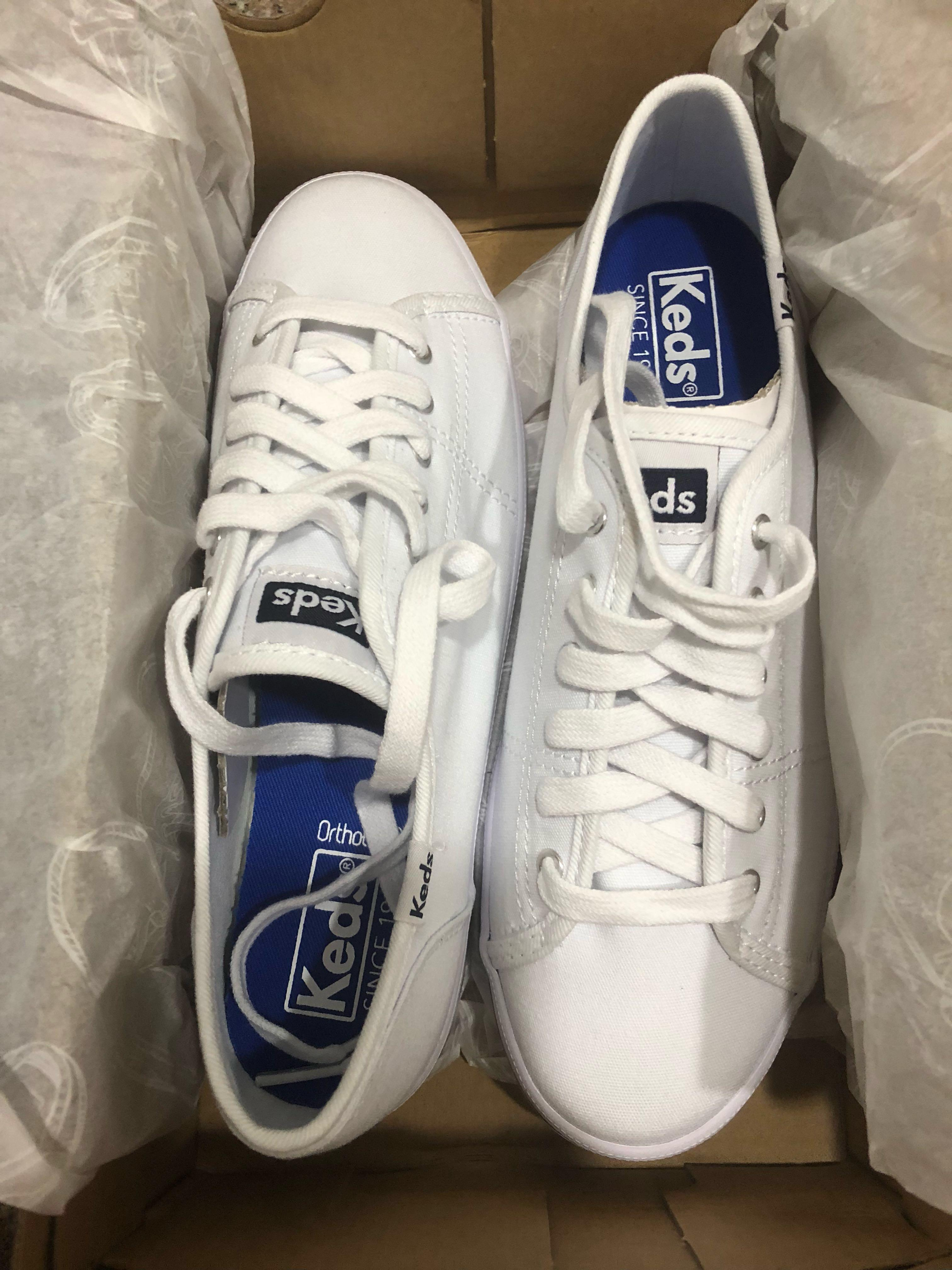 Keds kickstart white sneakers, Women's