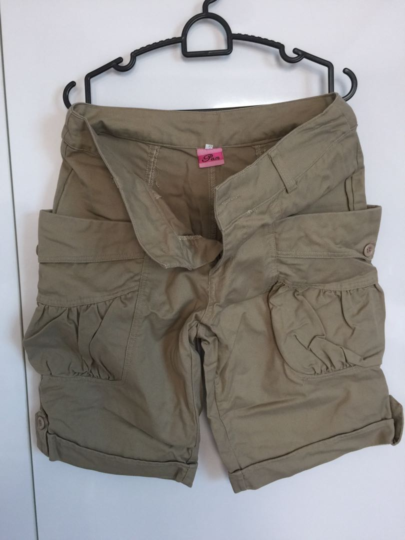 3e4533320 Ladies Shorts with Deep Pockets - Khaki, Women's Fashion, Clothes, Pants,  Jeans & Shorts on Carousell