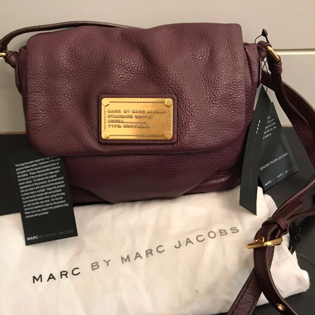 7ae48e9b8c9e Marc By Marc Jacobs Maroon Leather Sling Bag