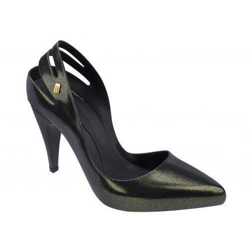4b024ea4f8af Melissa Classic Heel Black  Gold US7