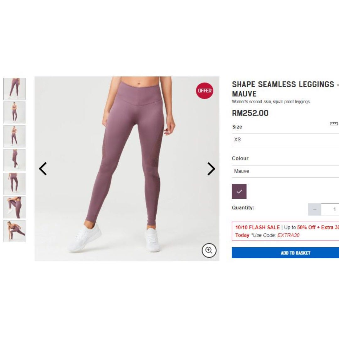 bad17cee12520 MyProtein Shape Seamless Leggings #CNYGA, Women's Fashion, Clothes, Bottoms  on Carousell