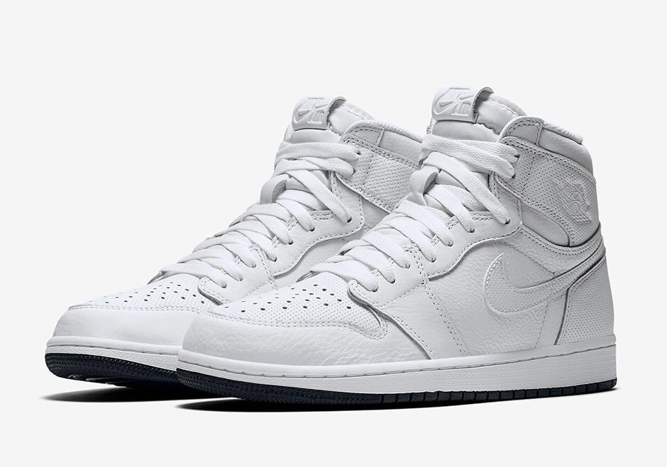 62951d1931b9af Nike Air Jordan 1 Retro High OG Perforated White