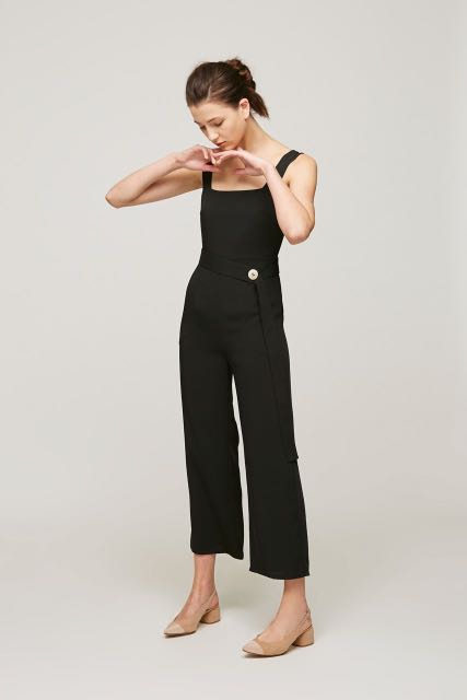 9072ff899055 Our Second Nature OSN Square Neck Jumpsuit
