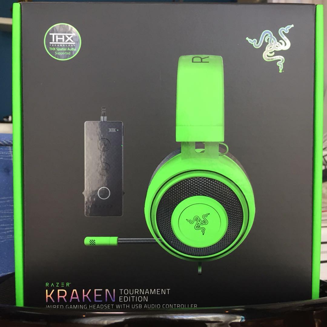 Razer Kraken Tournament Edition PC Gaming Headset-brand new