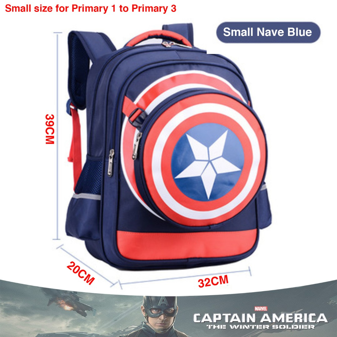 f52139f30b School Bag Captain America Small Navy Blue High Quality Nylon ...