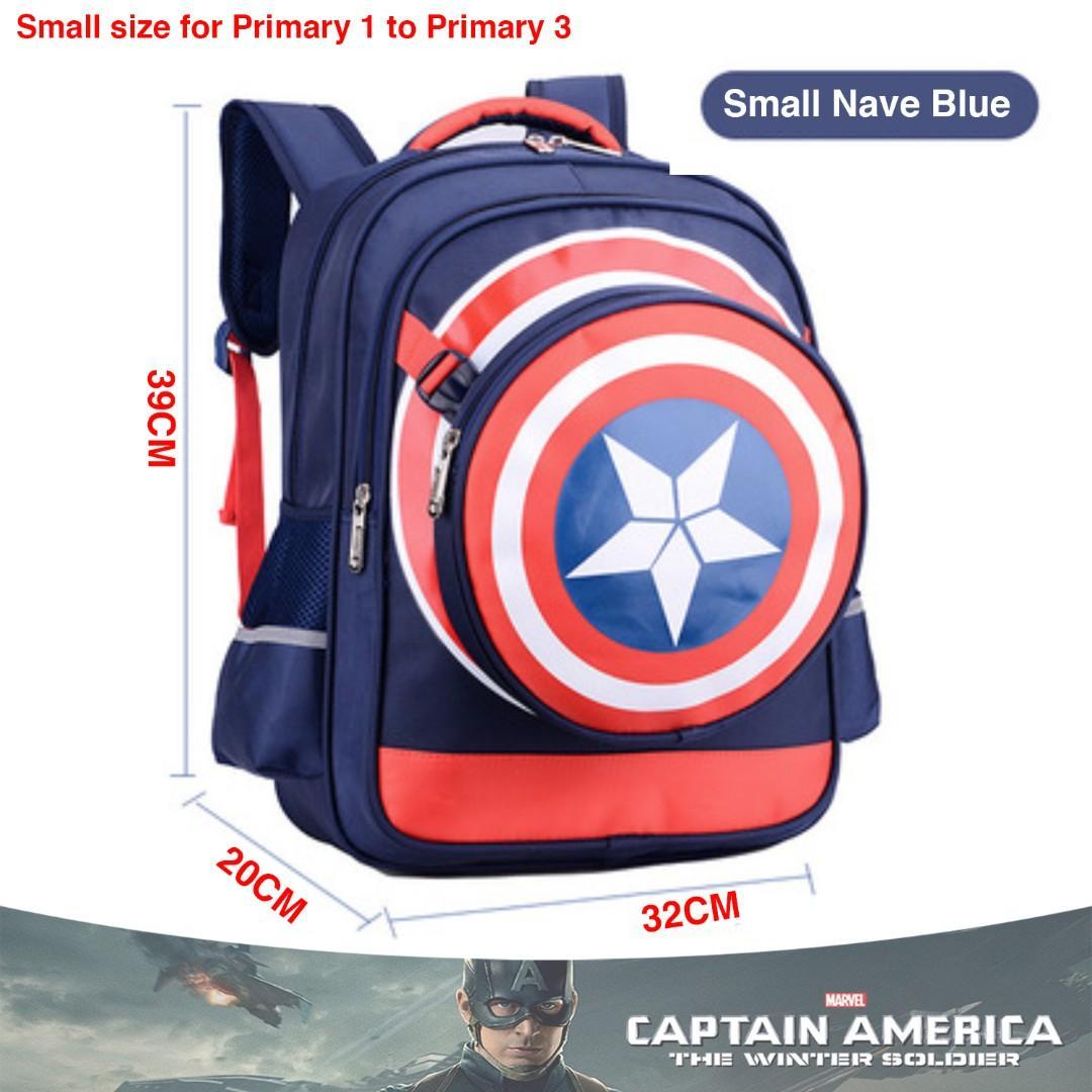 fe5c65879ef5 School Bag Captain America Small Navy Blue High Quality Nylon Children Boy  Cartoon Detachable Backpack Mochila Masculine Cartable Enfant + Pencil box  + ...