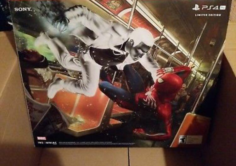 Sony PlayStation 4 Pro Slim 1TB - Marvel's Spider-Man Bundle - Jet Black/Red.