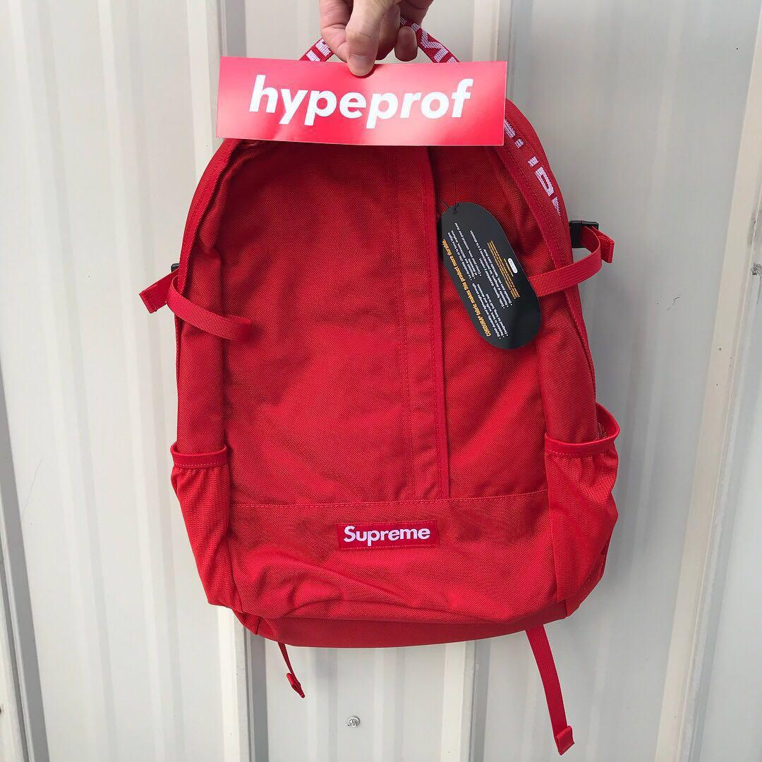 Supreme Cordura Backpack Red SS18, Men's Fashion, Bags & Wallets