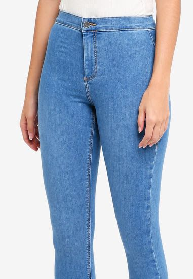 8c9a16c2fa04 Topshop Tall Moto Joni Jeans in mid-blue colour