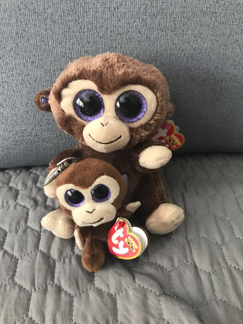 844772fff83 Ty Beanie Boo  Coconut (Monkey) set