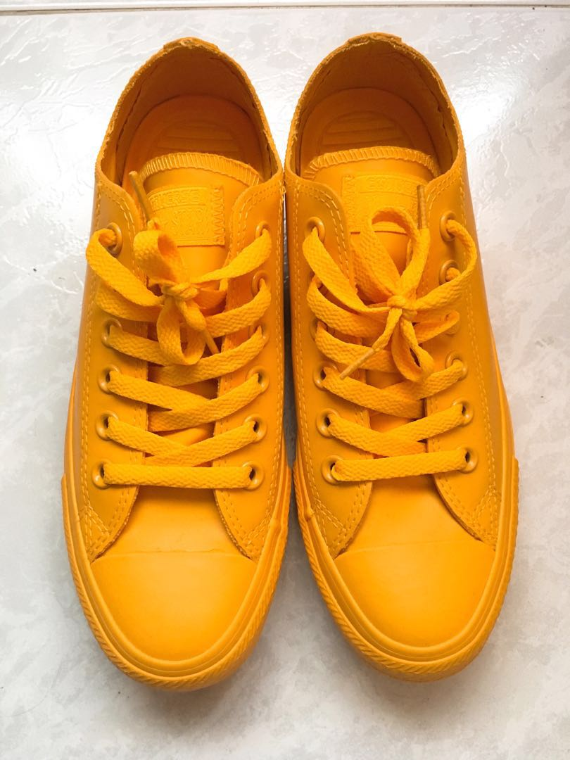 2ff0ce45bb9180 Unisex Yellow Converse Shoes (Men s 5   Women s 7