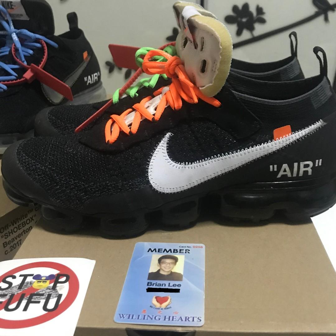 Presentador Conceder telar  US11 OW Vapormax OG, Men's Fashion, Footwear, Sneakers on Carousell