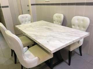Marble top dining table #JAN50