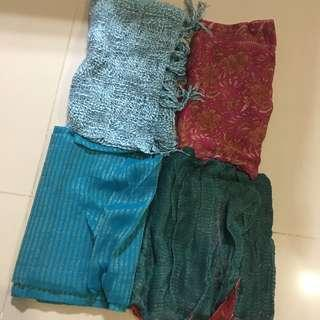$5 for 4 used Indian shawl