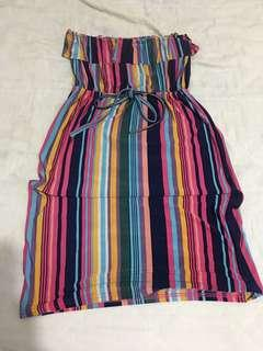 Multicolored Tube Dress