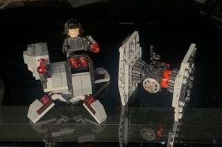 Lego Star Wars 炮台+人仔+飛機 (已砌)