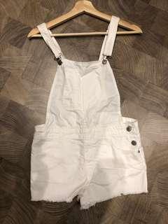 Bershka denim one piece pants