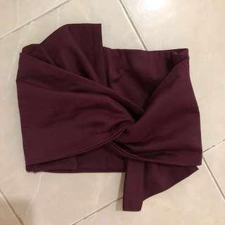 Room25 Bow Maroon Top