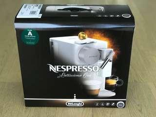 New Nespresso Lattissima One Mocha Brown Coffee Machine