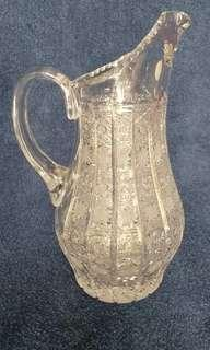 Pitcher Kristal Bohemia Czechoslovakia Crystal Decanter Pajangan Antik