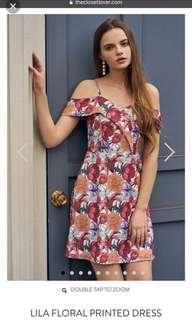 TCL LILA FLORAL PRINTED DRESS