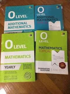 O level a math e math topical and yearly set