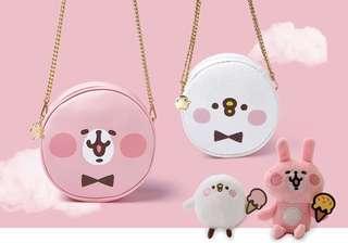 預購 台灣 kanahei 卡娜赫拉 圓形側背包包  兔兔 p助袋