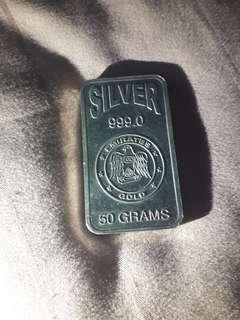 Emirates Silver Bar   50 grams