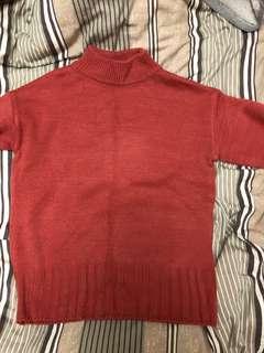 🚚 西瓜紅 小高領毛衣
