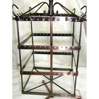 Jewellery Combi Earrings Necklace Swivel Square Large Display Stand Cast Iron