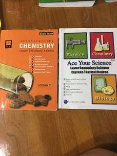 GLM understanding chemistry lower secondary + Ace your science lower secondary