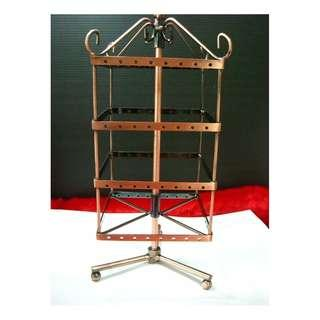 Jewellery earrings necklace square small swivel display stand cast iron