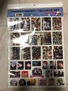 Seventeen sticker & poster set