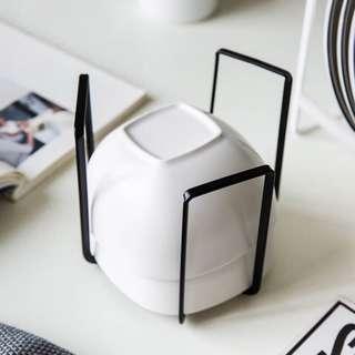 🚚 鐵藝碗架(白)x1 + 鐵藝盤架(白)x1