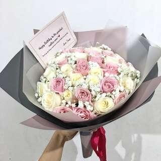 Buket bunga Valentines PROMO‼️