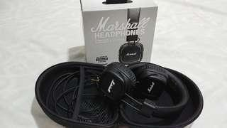Marshall headphones major II blutooth + pouch marshall
