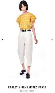TEM Radley High Waisted Pants Jeans Trousers Cream