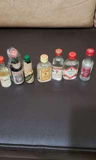 酒版:Sambuca, Martini Rosso, Underberg,Gordon Gin,  Beefeather Gin, Gilbeys Gin, Smirnoff Volka