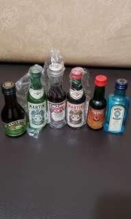 酒版: Baileys (glass bottle), Martini Extra Dry, Cinzano Rosso,Martini Rosso,  Dubonnet , Bombay Gin